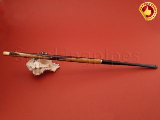 10 6 Ladies x Long Carved Wood Slim Cigarette Holder