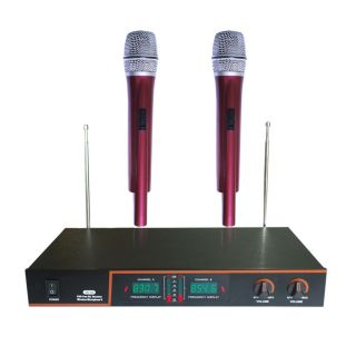 Channel VHF Dual Wireless Microphone System NEW for Home Karaoke