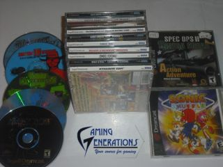 SEGA DREAMCAST LOT (30) GAMES   DISNEY + MAX STEEL + ZOMBIE REVENGE
