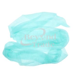 New Girls Women Fashion Cyan Color Long Soft Scarf Wrap Shawl Bandelet
