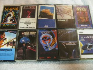 Cassette Tape Mixed Lot Classic Rock Jazz Metal Lot Number 4