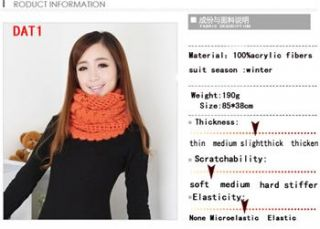 New Knit Wool Cowl Infinity Shawl Soft Wrap Scarf Loop Collar Scarves