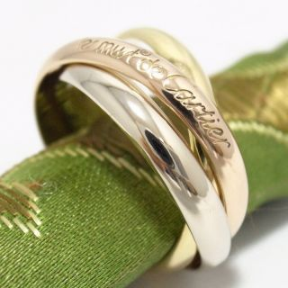 Cartier 18K Tri Color Gold Trinity Rolling Ring Size 60 US 9 15