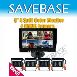 Rear View Mirror LCD Monitor Car Revering Kit +BackUp Camera + Sensor