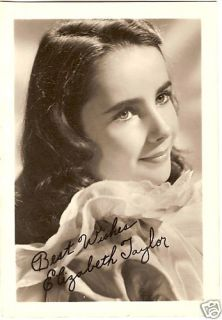 1940s Elizabeth Taylor Child Star Signed 5x7 Repro