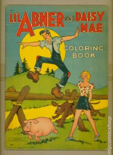 Lil Abner and Daisy Mae Coloring Book 1942 2391 VG 4 0
