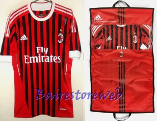 Great AC Milan Home TECHFIT Adidas 2011 12 with Original Bag New Sz L