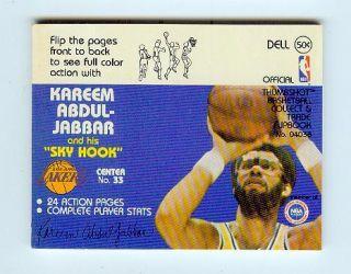 1977 78 Dell Kareem Abdul Jabbar Flip Book Lakers