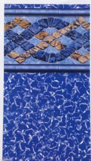 Round Beaded / J Hook BONHILL Above Ground Swimming Pool Liner 18 Mil