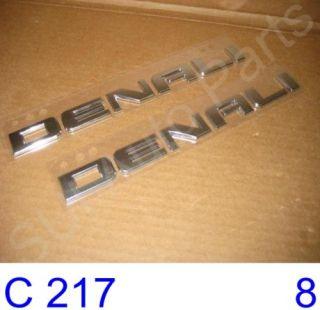 Chevy GMC Yukon Denali Crome Emblem Name Plate 2007 2011 C217 3Z Qty 2