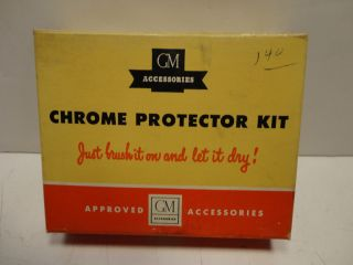 GM Accessories Chrome Protector Kit Original Glass Bottles and Box