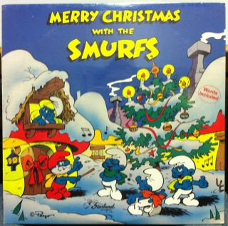 the smurfs merry christmas label starland music format 33 rpm 12 lp