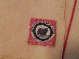 Vintage Yellowstone Park blanket wool throw Pendleton woolen mills