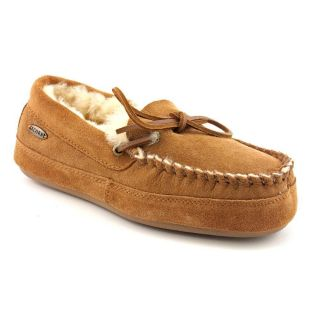 Acorn Camp Mens Size 11 Tan Regular Suede Moccasin Slippers Shoes