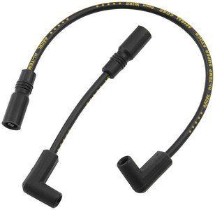 Accel 8mm s s Ferro Spiral Plug Wires Blk Harley Davidson FLH 1999