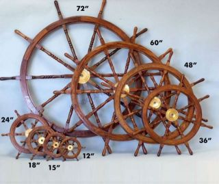 Ship Wheel 24 Nautical Room Decor Boat Steering Wheel Beach Living