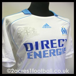 OLYMPIQUE MARSEILLE 2008 HOME ADIDAS FOOTBALL SOCCER SHIRT JERSEY