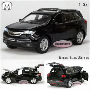New Acura Mdx 1 32 Alloy Diecast Model Car Toy With Sound Light Black