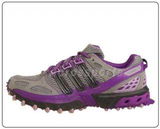 Adidas Kanadia 4 TR w Grey Purple Womens Outdoors Trail Running Shoes