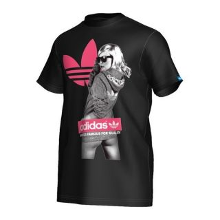 ADIDAS ORIGINALS Black Graphic G TEE GIRL T Shirt MEN L LARGE NEW