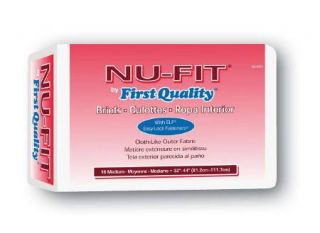 Nu Fit Adult Disposable Briefs Adult Diapers Incontinence Medium CS 96