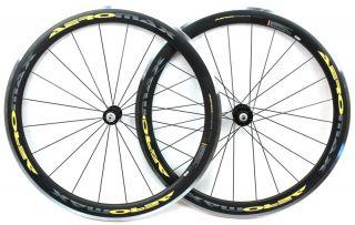 Aeromax Carbon Fiber Wheelset Road Bike 700c 50mm Aero Clincher