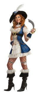 Bonnie Blue Sexy Adult Pirate Costume includes Dress, Cuffs, Choker