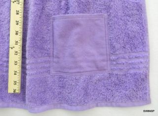 Adult Bib Clothing Protector Disabled Terry Towel & Flannel Top Lilac