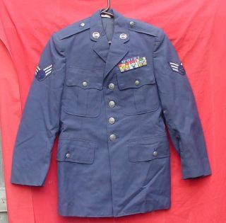 US Air Force Dress Uniform Jacket w Vietnam Ribbons