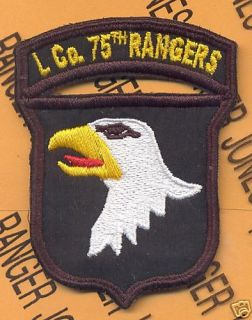 101st Airborne Div L Co 75th Rangers LRRP RVN Patch