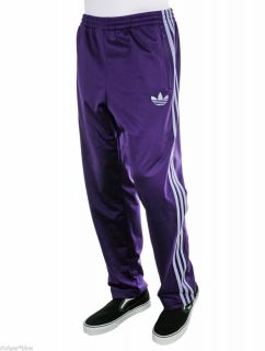 NWT Adidas Originals Firebird Purple and White Track Pants Mens 2XL