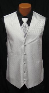 After Six Ice Silver Melrose Fullback Vest Tie Prom
