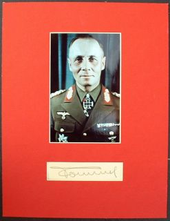 Autograph German Field Marshal World War II Desert Fox Authentic