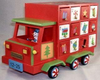 truck advent calendar new table top christmas advent calendar