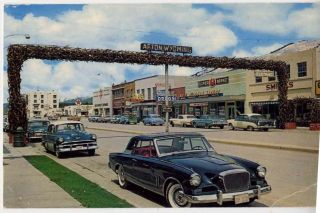 Afton WY Elk Horn 1950s Cars 1956 Studebaker Golden Hawk 1957