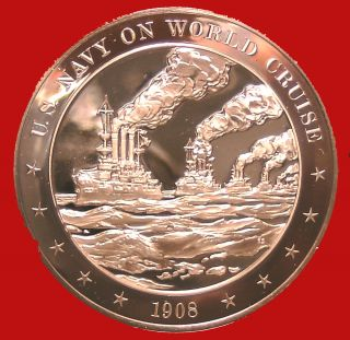 1908 United States Navy on World Cruise   Franklin Mint Solid Bronze