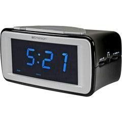 New Emerson Dual Alarm Clock Radio Amfm Smartset