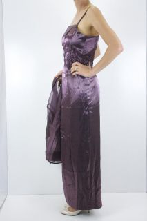 12 Alex Evenings Embroidery Beaded Purple Mother of Bride Dress Jacket