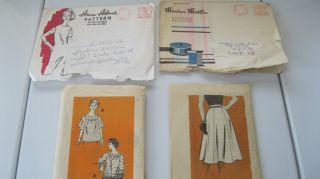 FIVE Vintage Patterns Marian Martin Anne Adams Alice Brooks Mail order