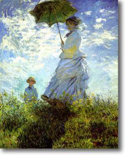 Claude Monet The Stroll Fine Art Canvas Giclee Sample Print