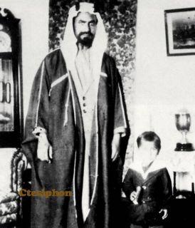 Sheikh Ahmad bin Jabir al Sabah, Ruler ofKuwait, in 1929, with one of