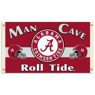 Alabama Crimson Tide 3x5 Man Cave Banner Grommets All Corners Bama