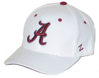 ALABAMA CRIMSON TIDE BAMA WHITE DH FITTED HAT/CAP SIZE 7 1/4 NEW