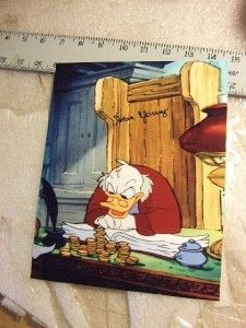 Autographed Alan Young Disney Voice Scrooge McDuck Mickey Christmas