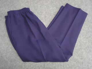 Alfred Dunner Petite Womens Purple Pants 12P 16P