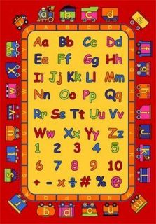 Kids ABC Alphabet Train Design 5x7 Area Rug Carpet Play Mat Great Gift