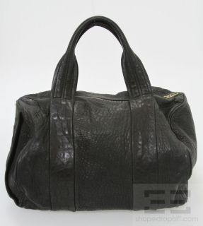 Alexander Wang Black Pebbled Leather & Brass Studded Rocco Satchel