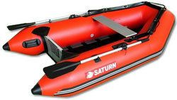 8ft 6in Slated Aluminum Floor Saturn Inflatable boat SS260R Red Color