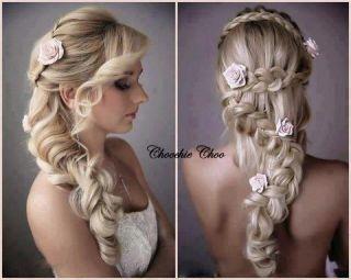 Four Ivory Rose Hair Clip Flower Corsage Bride Bridal Choochie Choo