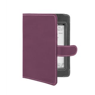 Kindle Touch Wi Fi 3G Purple Faux Leather Book Style Cover Case